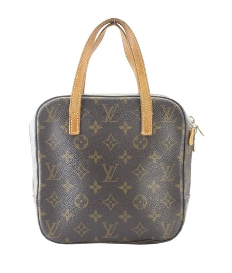 Louis Vuitton Coated Canvas Satchel in Brown Image 0