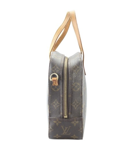 Louis Vuitton Coated Canvas Satchel in Brown Image 3