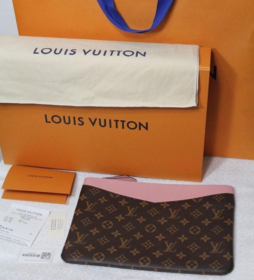 1389bbe642d9 Louis Vuitton New Large Box Rare Monogram Pink Coated Canvas and Leather  Clutch - Tradesy