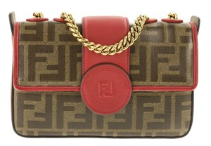 Fendi Mini Logo Ff Logo Ff Cross Body Bag