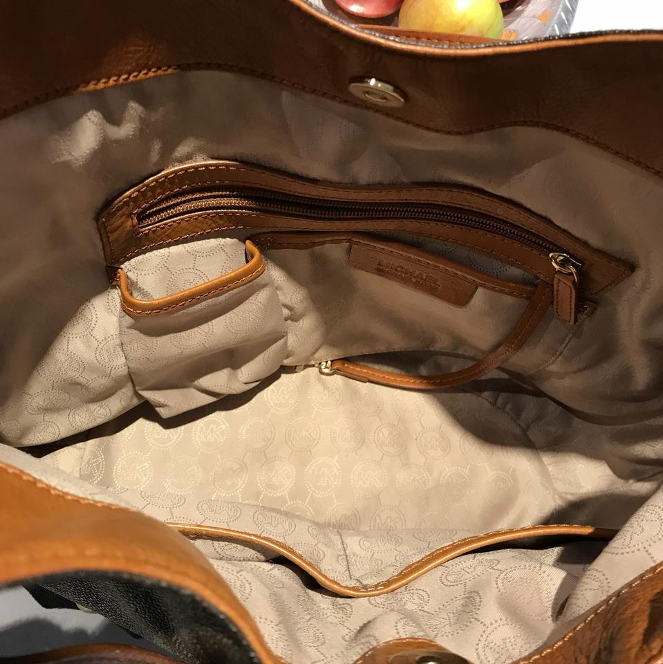 Michael Kors Brown With Saddle Straps Man Made Or Embossed Leather Sy Hobo Bag