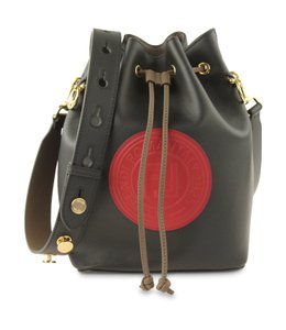 Fendi Bucket Leather Monogram Shoulder Bag