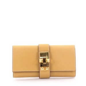 Hermès Leather Curry Yellow Clutch