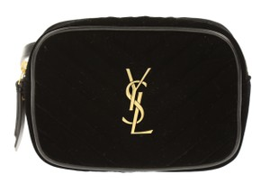 Saint Laurent Belt Fanny Pack Velvet Leather Cross Body Bag