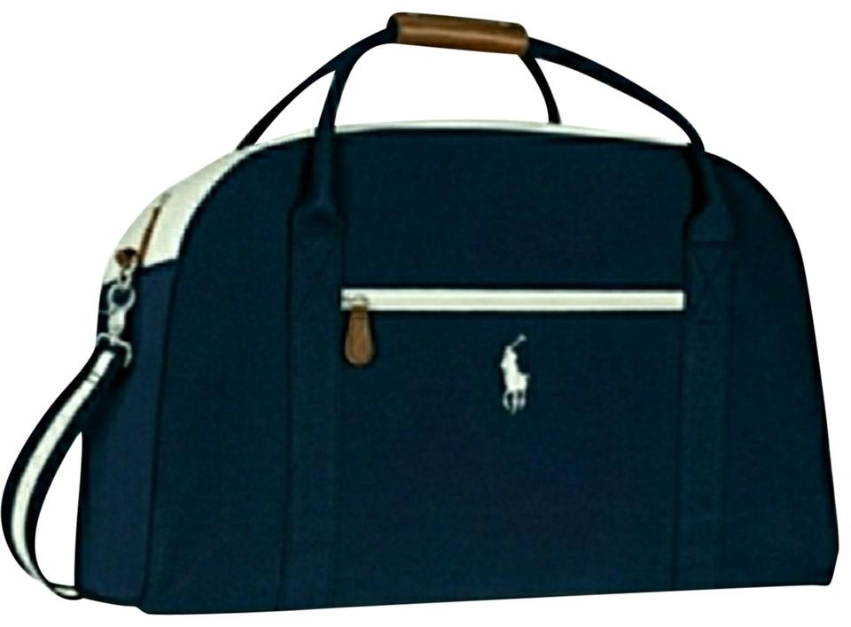 994822aaa3fa Polo Ralph Lauren Blue White Canvas Weekend Travel Bag - Tradesy