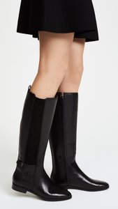 Tory Burch Winter Leather Knee High Equestrian Black Boots