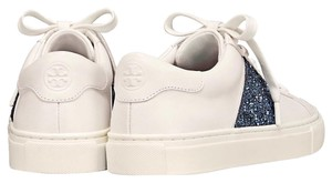 Tory Burch white & Navy blue glitter Athletic