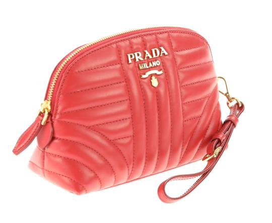 Prada quilted zip around make-up bag Image 1