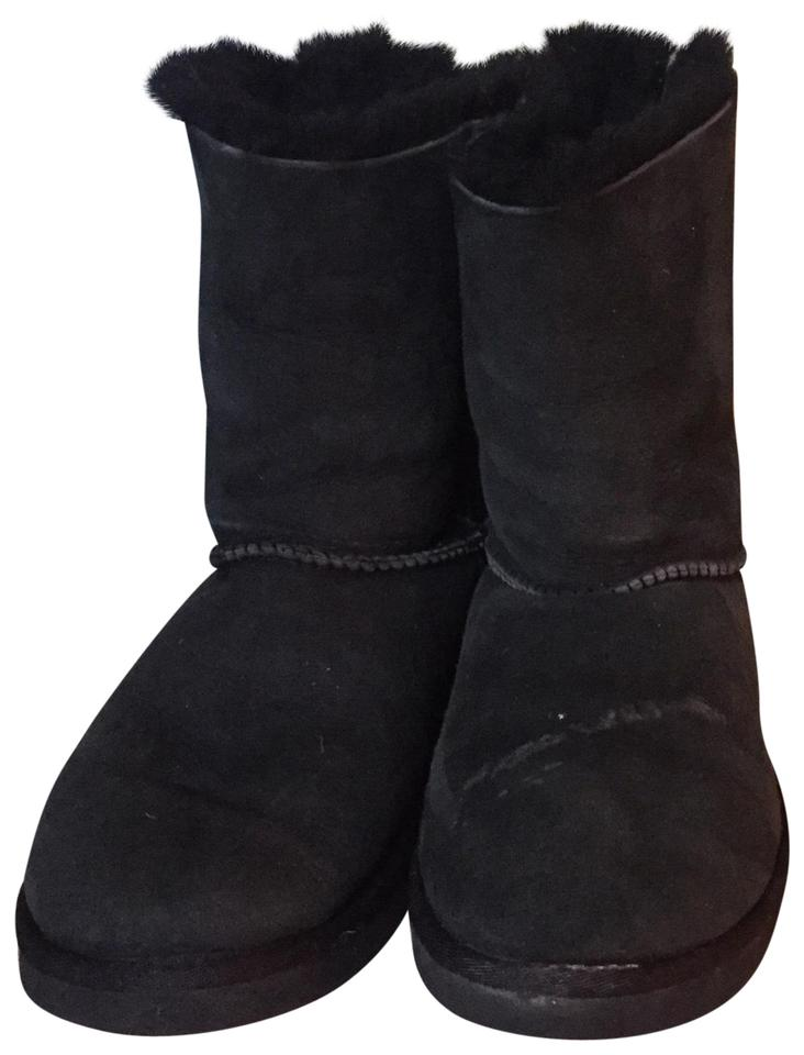 230517fbba4 UGG Australia Black Uggs Bailey Bow Boots/Booties Size US 7 Regular (M, B)  72% off retail