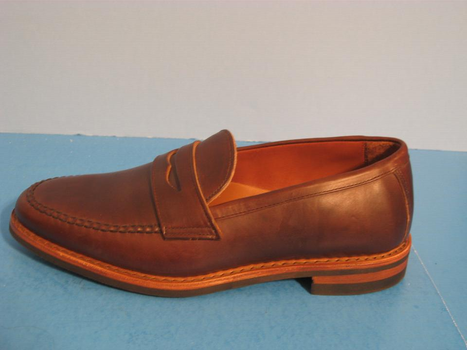 06640cf5f4a Allen Edmonds Addison Leather Penny Loafers Brown Flats Image 8. 123456789