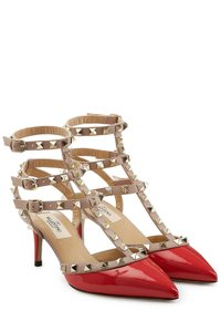 Valentino In Box Rockstud Rockstud Red Pumps