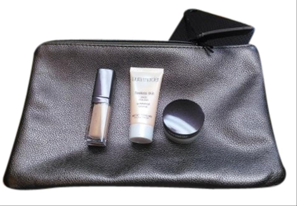 Laura Mercier Cosmetic Bag With 3 Trial Size Cosmetics