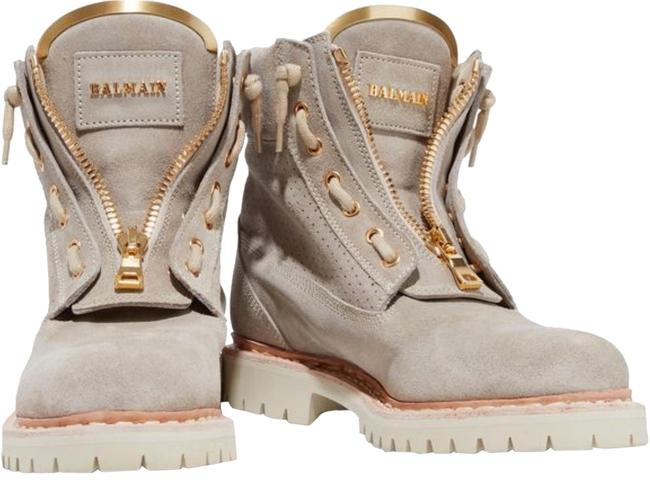 Item - Beige Embellished Suede Taiga Boots/Booties Size EU 37 (Approx. US 7) Regular (M, B)