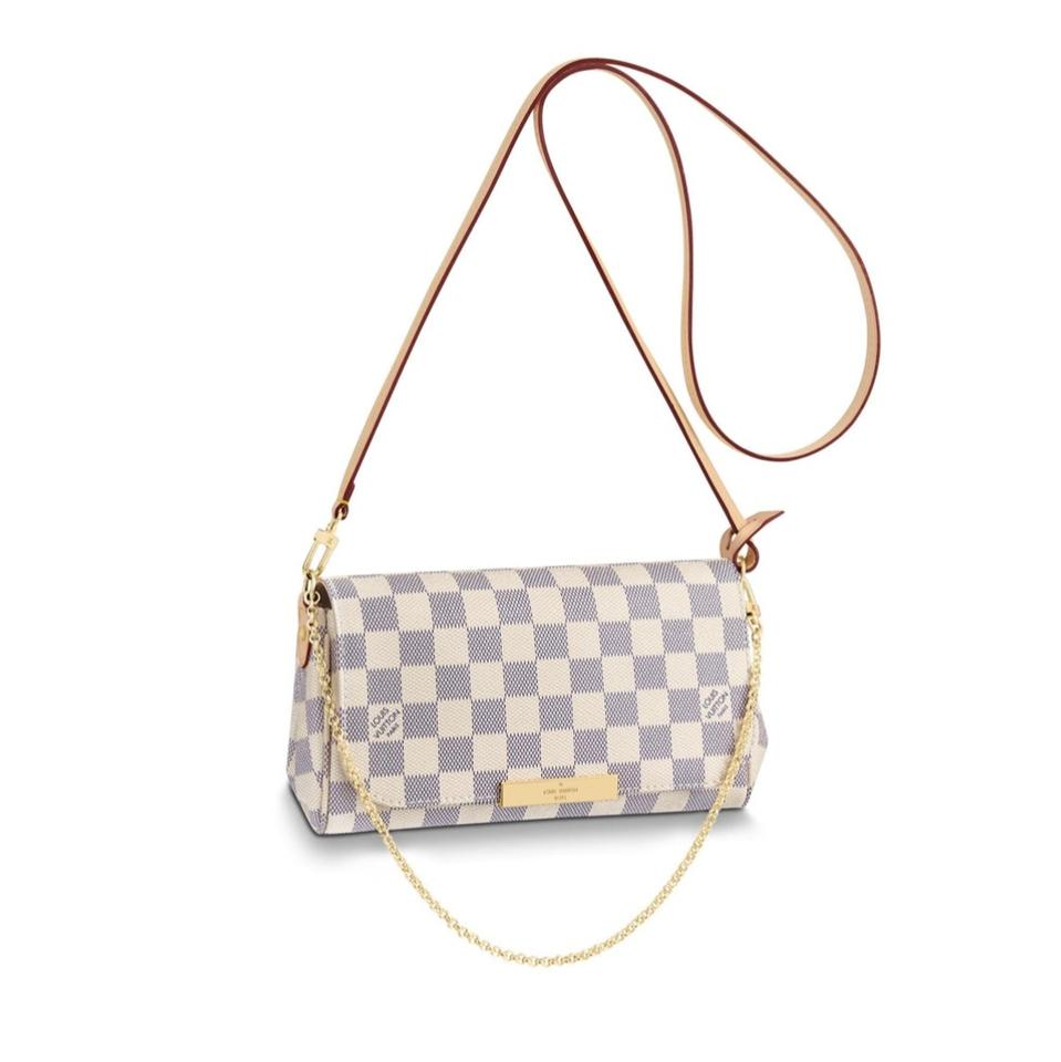 Louis Vuitton Favorite New 2018 Made In France Pm Damier Azur Canvas