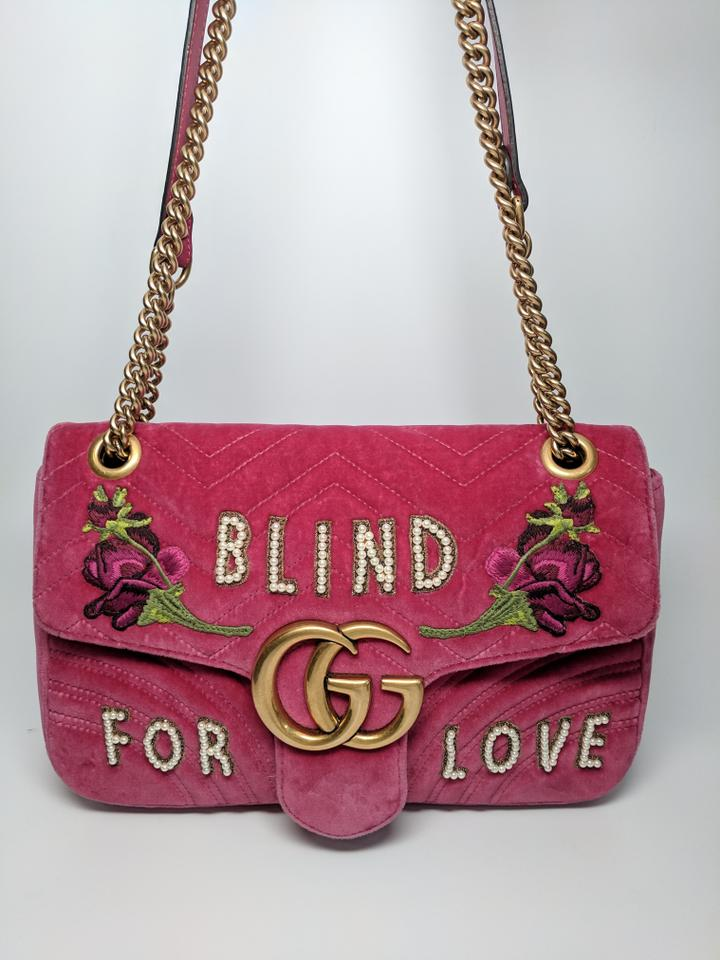 d5e6cdb08b40 Gucci Marmont Velvet Blind For Love Shoulder Bag Image 9. 12345678910