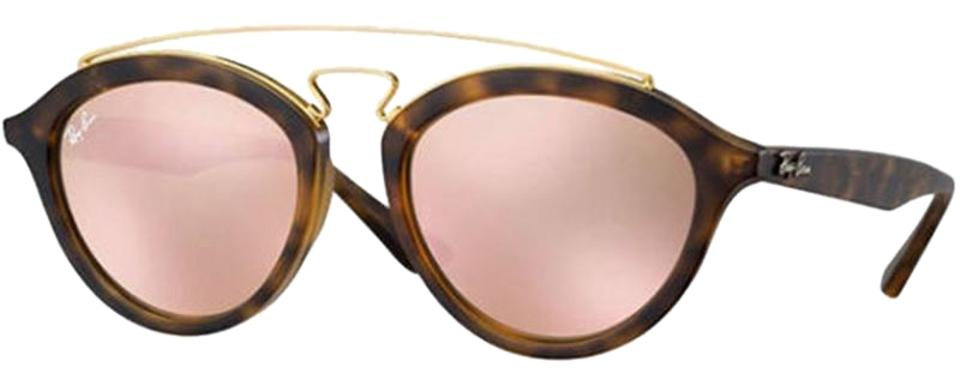 a308b8538d Ray-Ban Black Tortoise Frame   Copper Lens Women Pilot Sunglasses ...