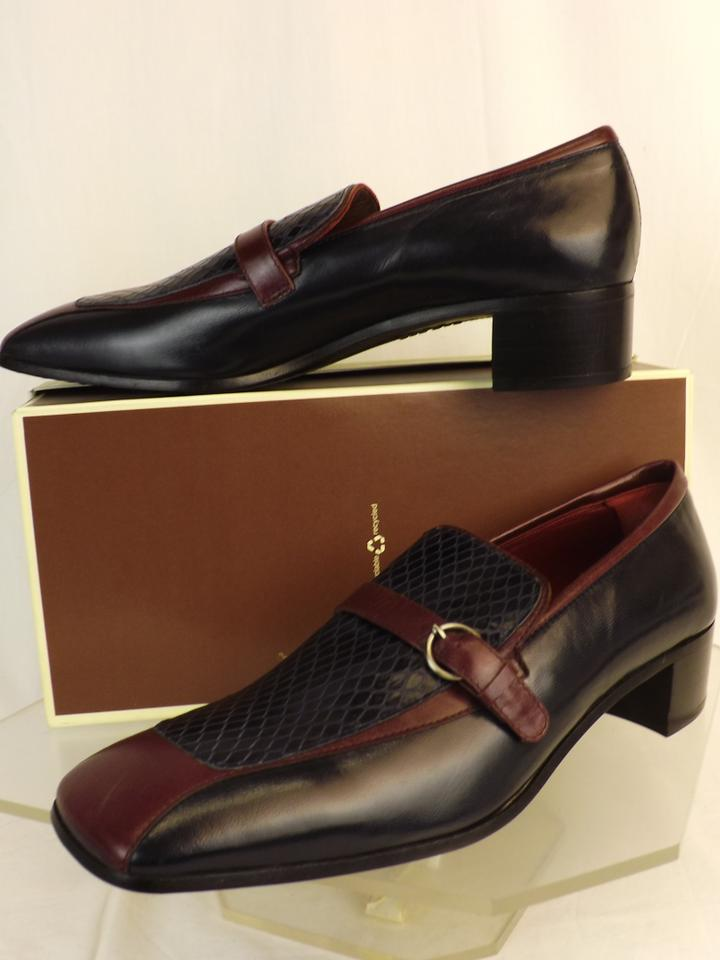 dfaa1843153a Miu Miu Blue Dark Navy Wine Snake Print Leather Loafers 6.5 Us 7.5 Italy  Shoes Image ...
