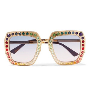 Gucci GUCCI RAINBOW CRYSTAL-EMBELLISHED SUNGLASSES