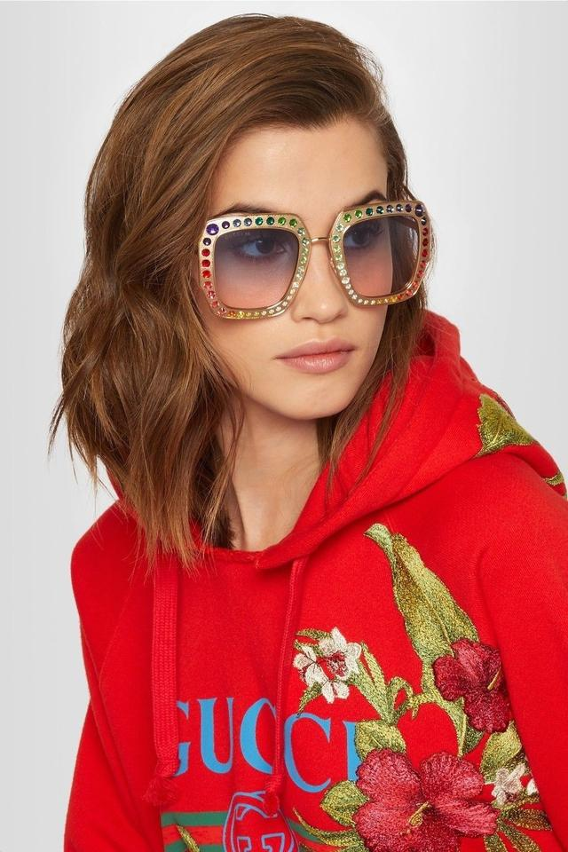 bcd8e2caf7b1 Gucci GUCCI RAINBOW CRYSTAL-EMBELLISHED SUNGLASSES Image 2. 123