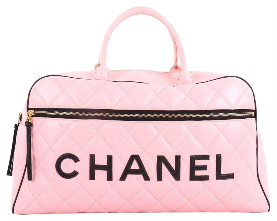 79309562d2e3 Chanel Timeless Tote Duffle Rare Large 90's Weekender/Overnight Pink ...