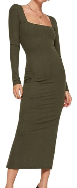 Item - Army Green Wendall Mid-length Casual Maxi Dress Size 8 (M)