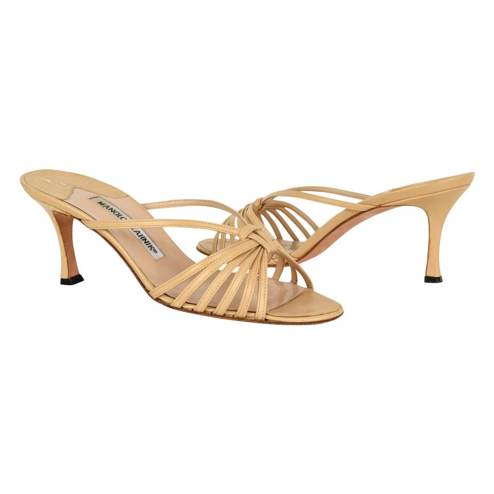 7949c50bb8c Manolo Blahnik Nude Strappy   7 Mules Slides Size EU 37 (Approx. US ...