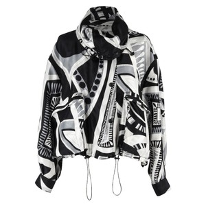 Emilio Pucci Silk Windbreaker Gray Multi Jacket
