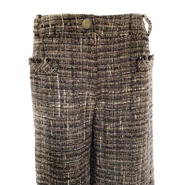 Item - Grey Multicolor Metallic Tweed Mid-rise Frayed Fringe Trim Pants Size 4 (S, 27)