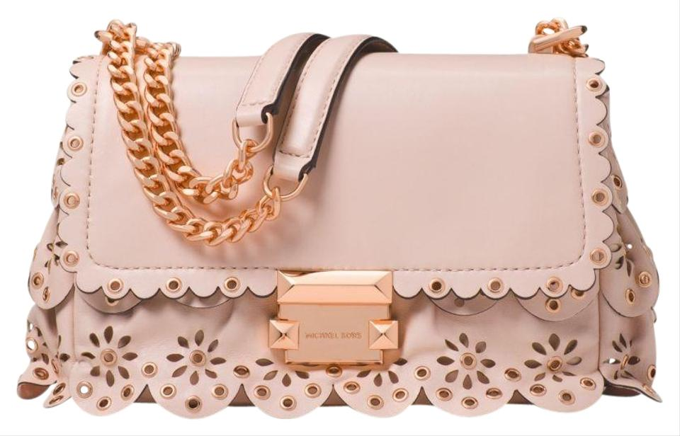 6aaaa053cc3880 Michael Kors Sloan Small Floral Scalloped with Rose Gold Hardware ...