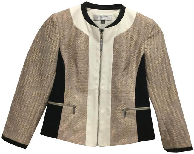 Item - Beige Ivory and Black Belinda Jacket Size Petite 0 (XXS)