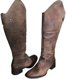FREEBIRD by Steven Rustic Riding Leather Tan Boots
