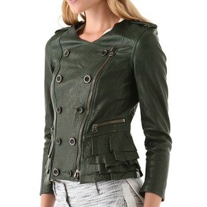 3.1 Phillip Lim Green Leather Jacket