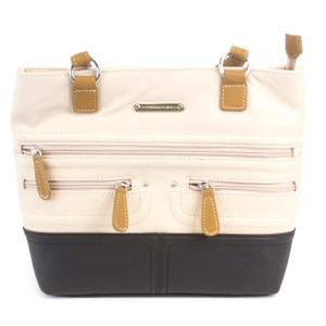 Stone Mountain Accessories Satchel in Blush/Black/Tan