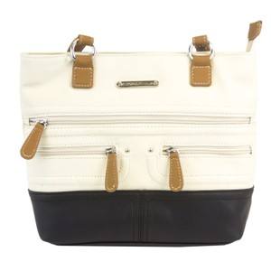 Stone Mountain Accessories Satchel in Bone/Black/Tan