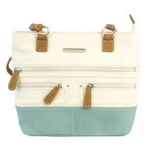 Stone Mountain Accessories Satchel in Bone/Ice Blue/Tan