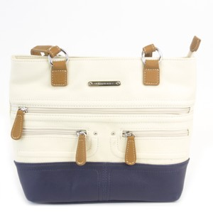 Stone Mountain Accessories Satchel in Bone/Navy/Tan