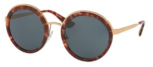 Prada New Round Tortoise Shell and Gold SPR 50T UE02K1 Free 3 Day Shipping