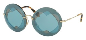 Miu Miu New Large Round with Gold Sides SMU 01s va06p2 Free 3 Day Shipping