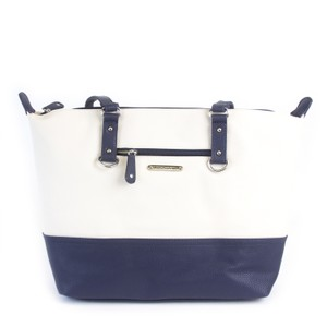 Stone Mountain Accessories Tote in Bone/Navy