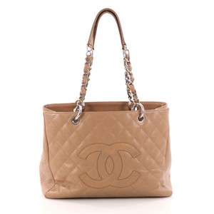 Chanel Leather Tote in light brown