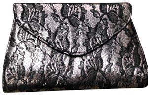 Neiman Marcus Lace Metallic Clutch