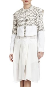 BCBGMAXAZRIA White\Tan Jacket