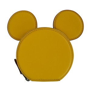 Coach Disney X Coach Mickey Mouse Ears Zip Coin Case