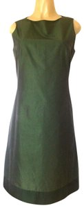 René Lezard short dress green Sheath Sleeveless Metallic Crew Neck on Tradesy
