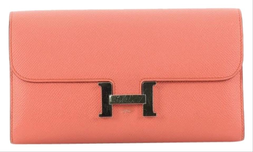 56ccd71825f3 Hermès Constance Wallet Epsom Long Pink Leather Clutch - Tradesy