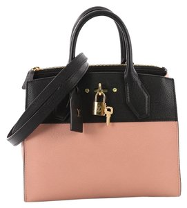 Louis Vuitton Handbag Leather Tote in black and pink