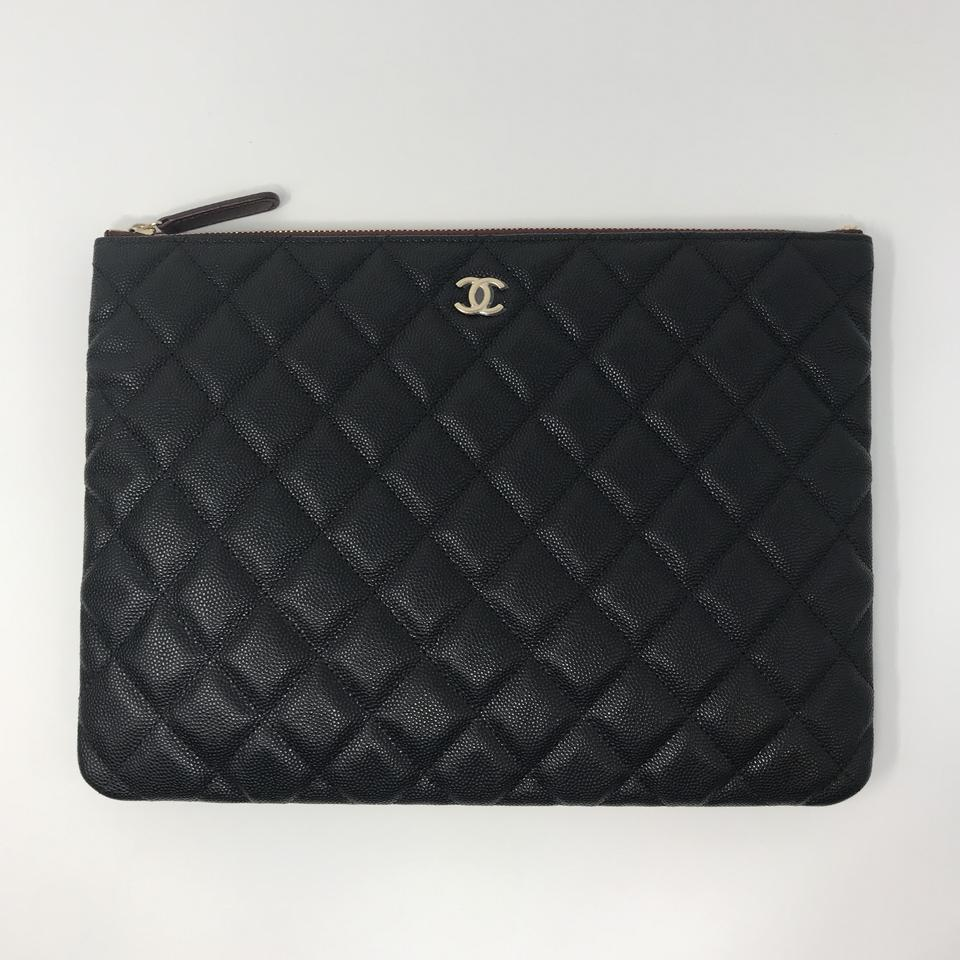 180bcf676547a7 Chanel 19c Pouch Black Caviar Leather Clutch - Tradesy