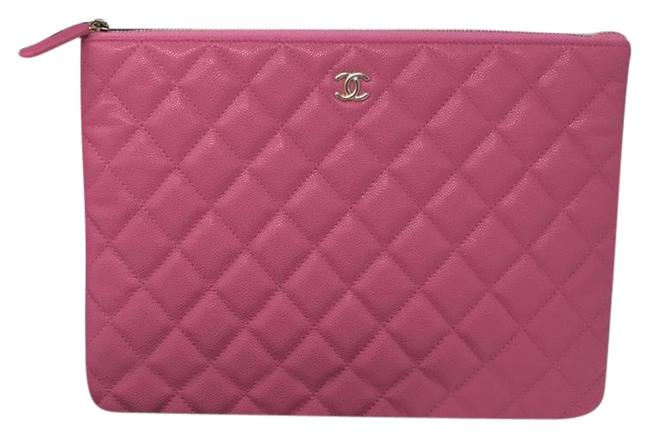Chanel Case Pink Caviar Clutch Chanel Case Pink Caviar Clutch Image 1