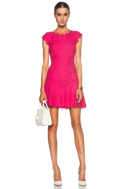 Item - Pink Brittany Lace Short Night Out Dress Size 2 (XS)