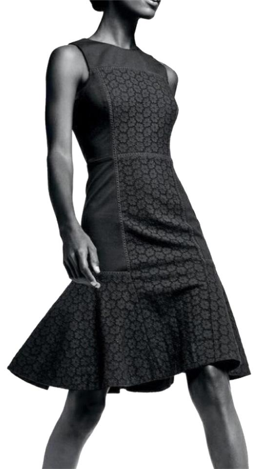 13b2d5629f2 J.Crew Black Collection Paneled Eyelet Fit   Flare Formal Dress. Size  6 (S)  Length  Mid-Length ...
